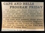 Caps and Bells Program Friday