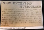 New Extension Music Class