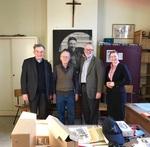 Group photograph with His Excellency, Bishop Aloys Jousten, Bishop Emeritus of Liège, Belgium