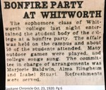 Bonfire Party at Whitworth
