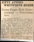 Fifty Attend Whitworth Mixer