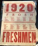 1920 Freshmen Sign