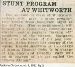 Stunt Program At Whitworth