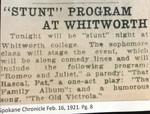 """Stunt"" Program At Whitworth"