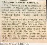 Whitworth Freshies Entertain