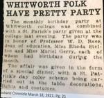 Whitworth Folk Have Pretty Party
