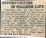 Opportunities in College Life