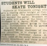 Students Will Skate Tonight