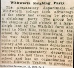 Whitworth Sleighing Party