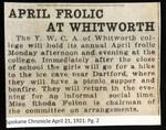 April Frolic at Whitworth