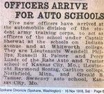 Officers Arrive for Auto School