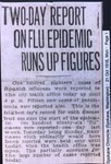 Two-Day Report On Flu Epidemic Runs Up Figures
