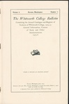 Whitworth College Bulletin 1905-1906