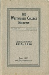 Whitworth College Bulletin 1915-1916