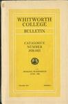 Whitworth College Bulletin 1920-1921