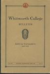 Whitworth College Bulletin 1922-1923