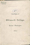 Catalogue of Whitworth College 1894-1895