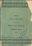Catalogue of Whitworth College 1898-1899