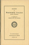 Bulletin of Whitworth College 1928-1929