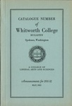 Catalogue Number of Whitworth College