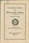 Catalogue Number of Whitworth College 1932-1933