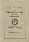 Catalogue Number of Whitworth College 1933-1934