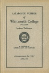 Catalogue Number of Whitworth College 1936-1937