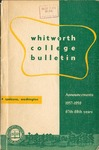 Whitworth College Bulletin 1957-1959