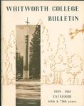 Whitworth College Bulletin 1959-1961